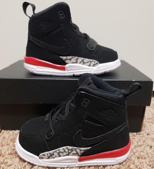promo code 27478 18f28 Jordan Legacy 312 Toddler Black/Fire Red NWT